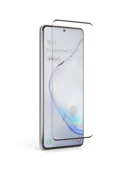 Folie curbată 3D din sticlă securizată pentru Samsung Galaxy S20 NEGRU - Full cover