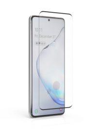 Folie curbată 3D din sticlă securizată pentru Samsung Galaxy S20+ NEGRU - Full cover