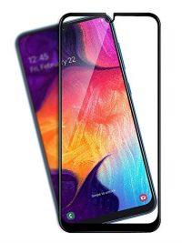 Folie ușor curbată 5D din sticlă securizată pentru Samsung Galaxy A30s / A50s NEGRU - Full glue