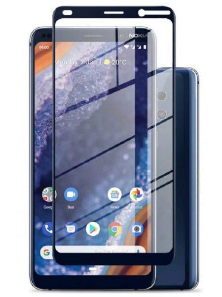 Folie Fullscreen 6D din sticla securizata pentru Nokia 9 Pureview - FULL GLUE