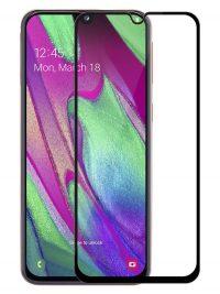Folie Fullscreen 2.5D din sticla securizata pentru Samsung Galaxy A40 / A01 NEGRU