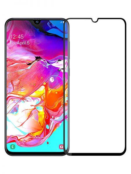 Folie Fullscreen 2.5D din sticla securizata pentru Samsung Galaxy A70 NEGRU