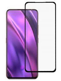 Folie ușor curbată 5D din sticlă securizată pentru Samsung Galaxy A80 NEGRU - Full glue