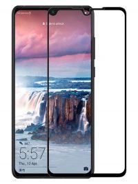 Folie ușor curbată 5D din sticlă securizată pentru Huawei P30 NEGRU - Full glue