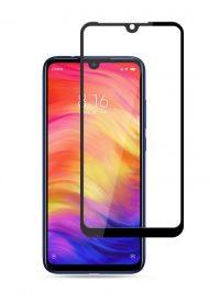 Folie ușor curbată 5D din sticlă securizată pentru Xiaomi Redmi 7 NEGRU - Full glue