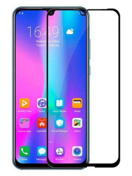 Folie curbată 5D din sticlă securizată pentru Huawei Honor 20 Lite / 20i NEGRU - Full glue