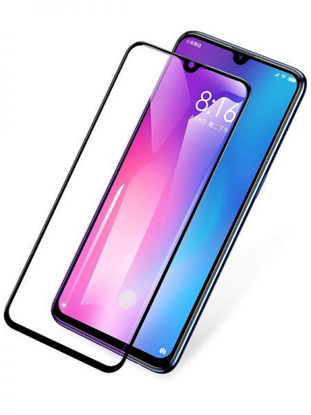 Folie curbată 5D din sticlă securizată pentru Xiaomi Mi 9 NEGRU - Full glue