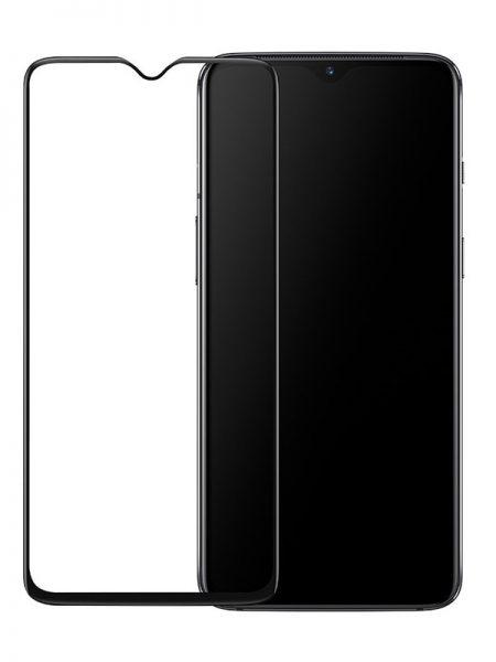 Folie curbată 5D din sticlă securizată pentru OnePlus 7 NEGRU - Full glue