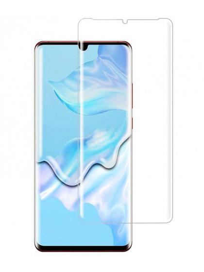 Folie curbată 3D din sticlă securizată pentru Huawei P30 Pro TRANSPARENT