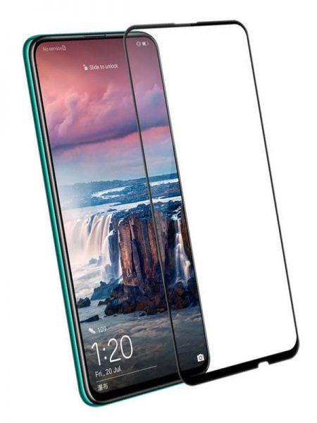 Folie curbată 5D din sticlă securizată pentru Huawei P Smart Z NEGRU - Full glue