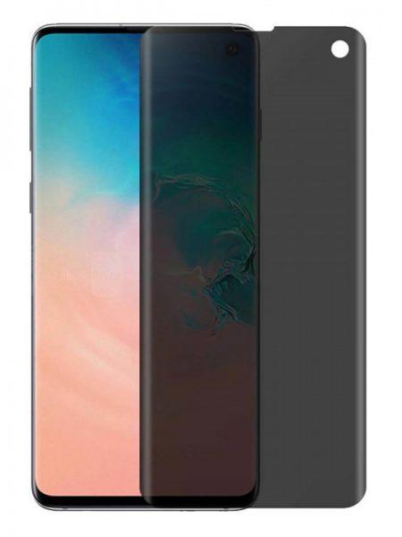 Folie PRIVACY curbată 3D din sticlă securizată pentru Samsung Galaxy S10