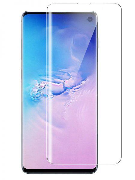 Folie curbată 3D din sticlă securizată pentru Samsung Galaxy S10 TRANSPARENT - Full cover