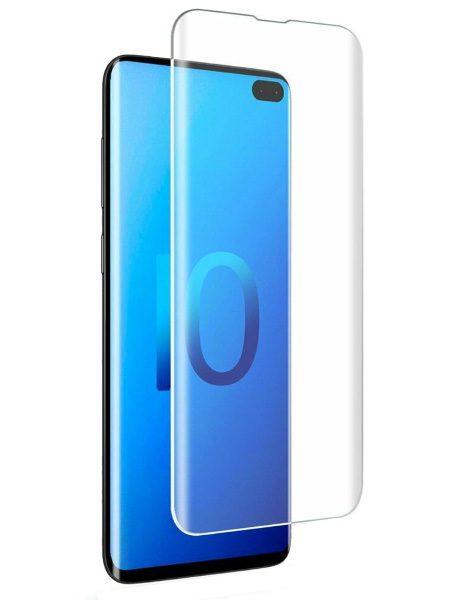 Folie curbată 3D din sticlă securizată pentru Samsung Galaxy S10+ TRANSPARENT - Full cover