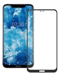 Folie ușor curbată 5D din sticlă securizată pentru Nokia 8.1 (X7) NEGRU - Full glue