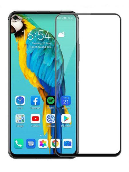 Folie curbată 5D din sticlă securizată pentru Huawei Nova 5T / Honor 20 / 20 Pro NEGRU - Full glue
