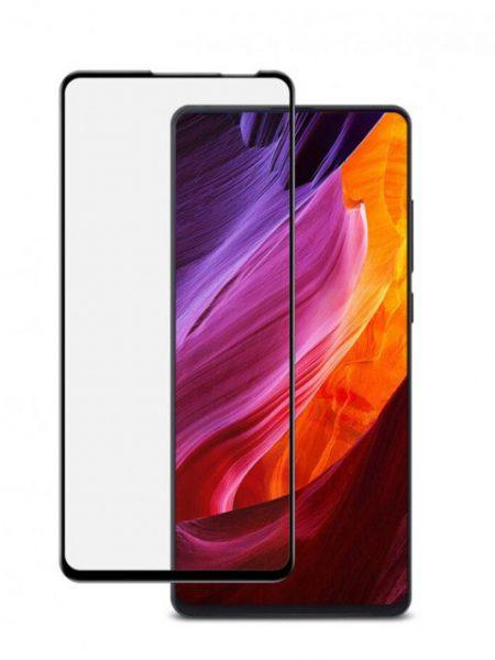 Folie curbată 5D din sticlă securizată pentru Xiaomi Mi Mix 3 NEGRU - Full glue