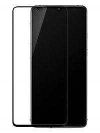 Folie ușor curbată 5D din sticlă securizată pentru OnePlus 7T NEGRU - Full glue