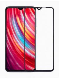 Folie ușor curbată 5D din sticlă securizată pentru Xiaomi Redmi Note 8 Pro NEGRU - Full glue