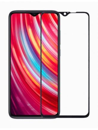 Folie curbată 5D din sticlă securizată pentru Xiaomi Redmi Note 8 Pro NEGRU - Full glue