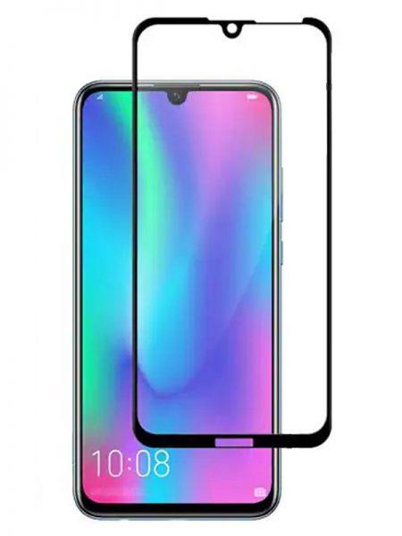 Folie curbată 5D din sticlă securizată pentru Huawei Y7 / Y7 Prime / Y7 Pro (2019) NEGRU - Full glue