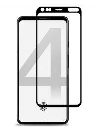 Folie ușor curbată 5D din sticlă securizată pentru Google Pixel 4 NEGRU - Full glue