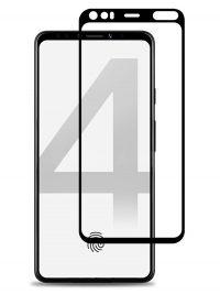 Folie ușor curbată 5D din sticlă securizată pentru Google Pixel 4 XL NEGRU - Full glue