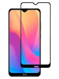 Folie ușor curbată 5D din sticlă securizată pentru Xiaomi Redmi 8 / 8A NEGRU - Full glue