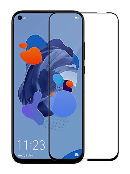 Folie curbată 5D din sticlă securizată pentru Huawei P20 Lite (2019) / Nova 5i NEGRU - Full glue
