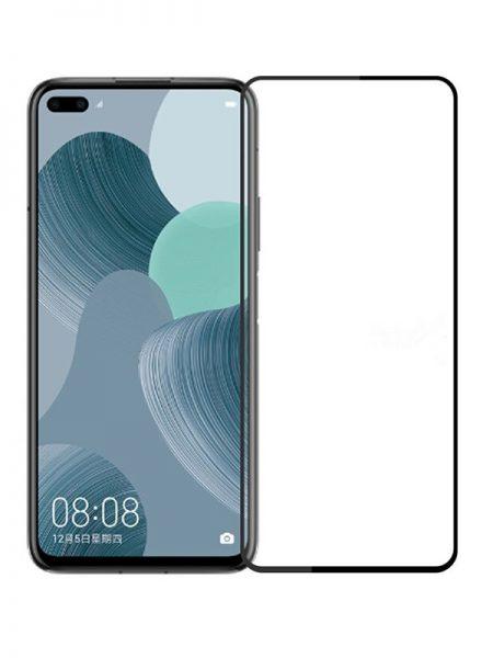 Folie curbată 5D din sticlă securizată pentru Huawei Nova 6 / Honor V30 / View 30 NEGRU - Full glue