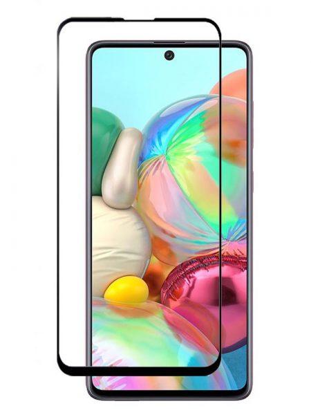 Folie ușor curbată 5D din sticlă securizată pentru Samsung Galaxy A71 / S10 Lite / Note10 Lite / M51 NEGRU - Full glue