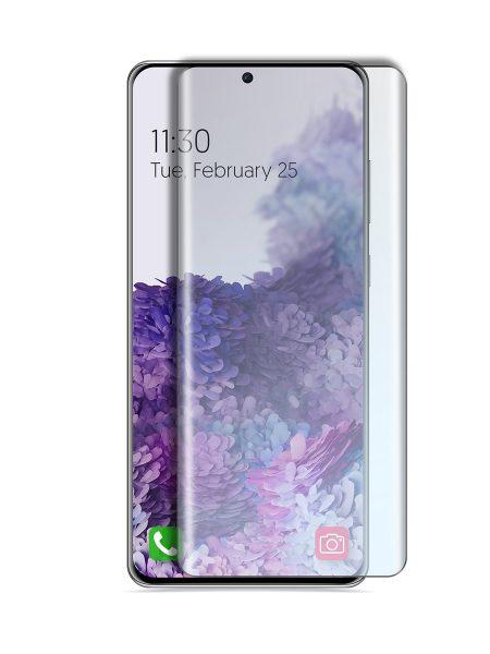 Folie curbată 3D din sticlă securizată pentru Samsung Galaxy S20 TRANSPARENT - Full cover