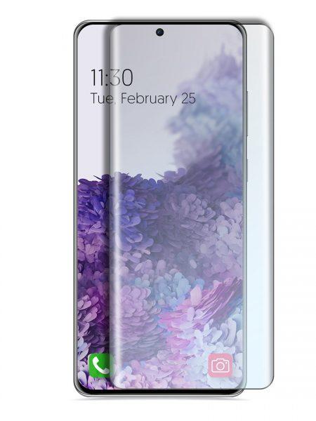 Folie curbată 3D din sticlă securizată pentru Samsung Galaxy S20+ TRANSPARENT - Full cover