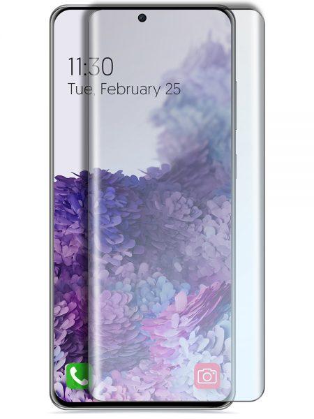 Folie curbată 3D din sticlă securizată pentru Samsung Galaxy S20 Ultra TRANSPARENT - Full cover