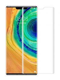 Folie curbată 3D din sticlă securizată pentru Huawei Mate 30 Pro TRANSPARENT (full cover)