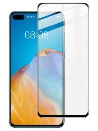 Folie ușor curbată 5D din sticlă securizată pentru Huawei P40 NEGRU - Full glue