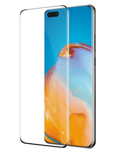 Folie curbată 3D din sticlă securizată pentru Huawei Nova 7 Pro / Honor 30 Pro NEGRU (full cover)
