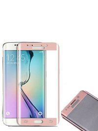 Folie curbată 3D din sticlă securizată pentru Samsung Galaxy S6 Edge ROSE GOLD