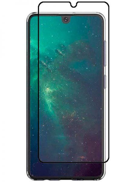 Folie ușor curbată 5D din sticlă securizată pentru Samsung Galaxy A41 NEGRU - Full glue