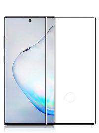 Folie curbată 3D din sticlă securizată pentru Samsung Galaxy Note10+ NEGRU - FULL GLUE