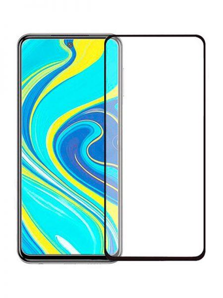 Folie ușor curbată 5D din sticlă securizată pentru Xiaomi Redmi Note 9 Pro / 9S NEGRU - Full glue
