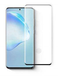 Folie curbată 3D din sticlă securizată pentru Samsung Galaxy S20+ NEGRU - FULL GLUE