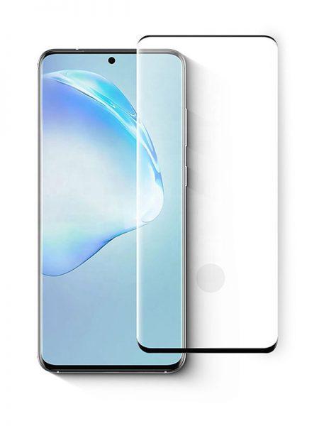 Folie curbată 3D din sticlă securizată pentru Samsung Galaxy S20 Ultra NEGRU - FULL GLUE