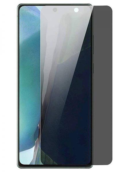 Folie PRIVACY curbată 3D din sticlă securizată pentru Samsung Galaxy Note20