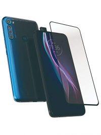Folie Fullscreen 9D din sticla securizata pentru Motorola One Fusion+ / Hyper - FULL GLUE