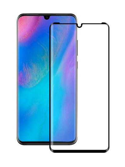 Folie curbată 3D din sticlă securizată pentru Huawei P30 Pro NEGRU - FULL GLUE (full cover)