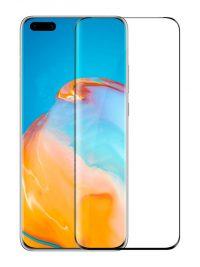 Folie curbată 3D din sticlă securizată pentru Huawei P40 Pro / P40 Pro+ NEGRU - FULL GLUE (full cover)