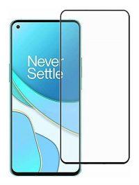 Folie ușor curbată 5D din sticlă securizată pentru OnePlus 8T NEGRU - Full glue