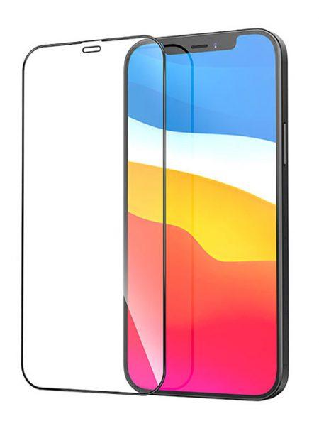 Folie ușor curbată 5D din sticlă securizată pentru iPhone 12 Mini - NEGRU