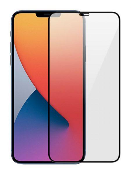 Folie ușor curbată 5D din sticlă securizată pentru iPhone 12 Pro Max - NEGRU