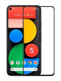 Folie ușor curbată 5D din sticlă securizată pentru Google Pixel 5 NEGRU - Full glue